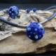 Alabasterfarbenes Collier mit Nappalederband