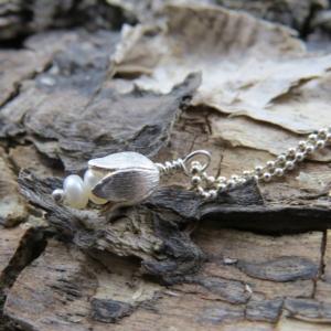 Silbertulpe mit 925er Silberkugelkette