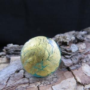 Wechselringaufsatz mit Blattgold und 2,5mm Schraubgewinde