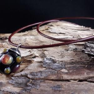 Multicolorperle mit Antilopenlederband