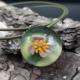 Grüne Perle mit 925er Silberkugelkette